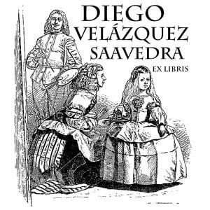 Sello ex libris Las Meninas de Velázquez