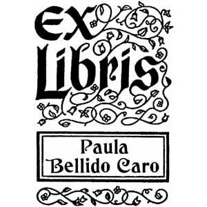 Sello ex libris Orlas y filigranas N5