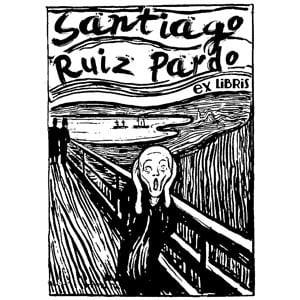 Sello ex libris Edvard Munch El Grito