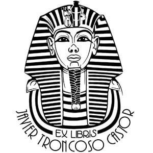 Sello ex libris Tutankamon