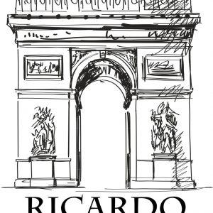 Sello ex libris El Arco del Triunfo