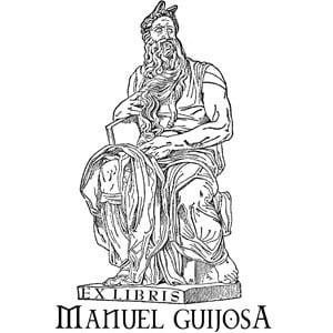 Sello ex libris Moisés de Miguel Ángel