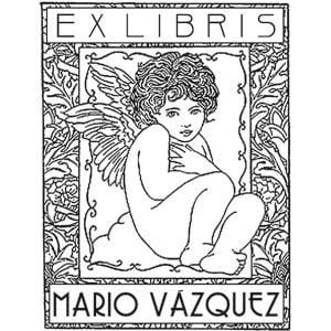 Sello ex libris Quirubín