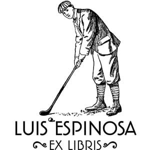 Sello ex libris Golf