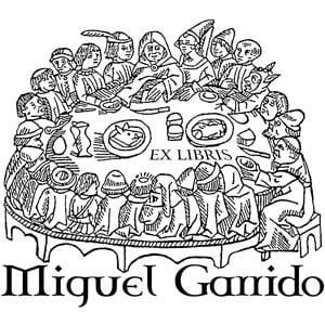 Sello ex libris Banquete medieval