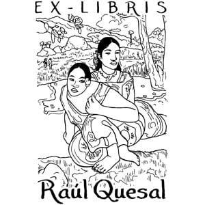 Sello ex libris ¿cuando te casas? Gauguin
