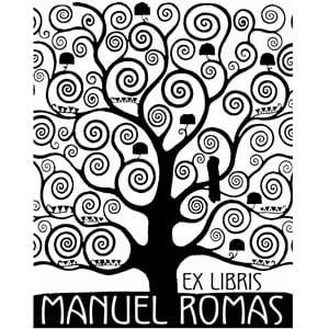 Sello ex libris Gustav Klimt El árbol de la vida m1