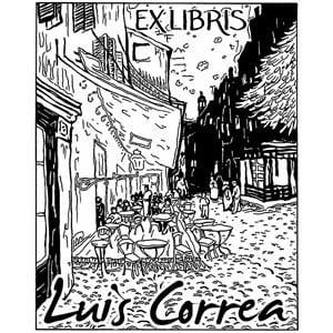 Exlibris Van Gogh Terraza De Café Por La Noche