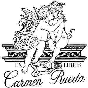 Sello de caucho ex libris Cupido