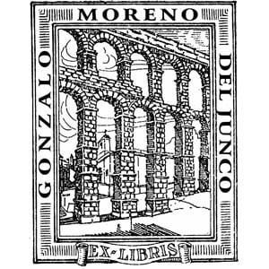 Sello ex libris Acueducto de Segovia
