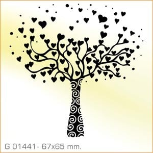 Sellos Aladine Árbol de corazones G 01441