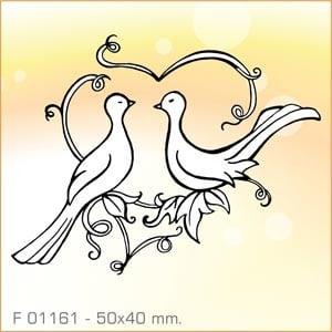 Sellos Aladine Palomas enamoradas F01161