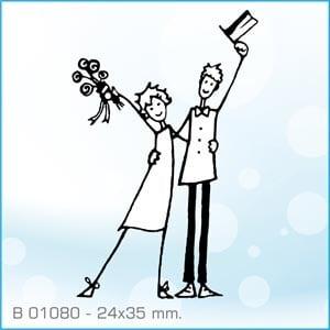 Sellos Aladine Recien casados saludando B-01080