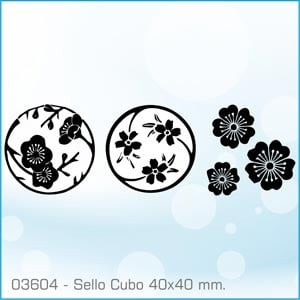 Sellos Cubo Flores de Cerezo 03604