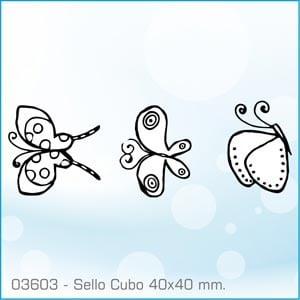 Sellos Cubo Mariposas Coreanas 03603