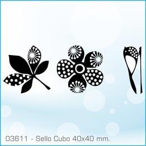 Sellos Cubo Siluetas 03611