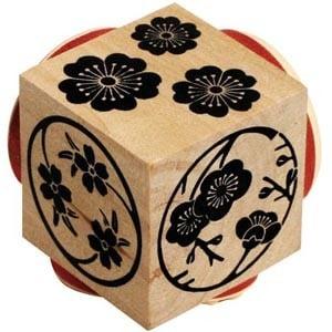 Sellos Cubo Flores Chinas 03610