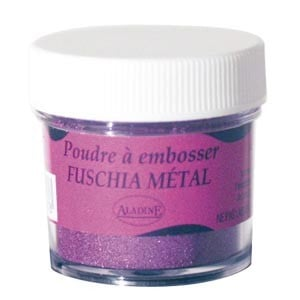 Polvos relieve embossing Aladine Fucsia metalizado10197