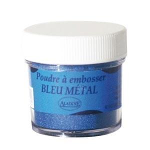 Polvos relieve embossing Aladine Azul metalizado 10199