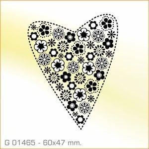 Sello Aladine Corazón con flores G-01465