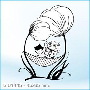 Sello Aladine pareja de novios G-01445