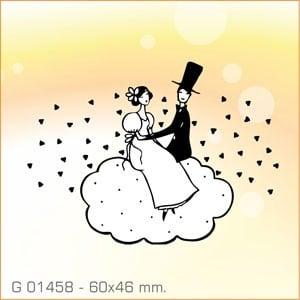 Sello Aladine Novios en la Nube G-01458