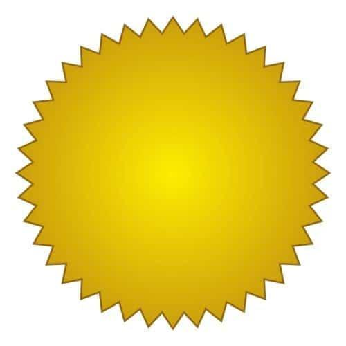 Etiquetas doradas sello seco