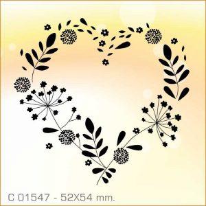 Sello Aladine corazón floral