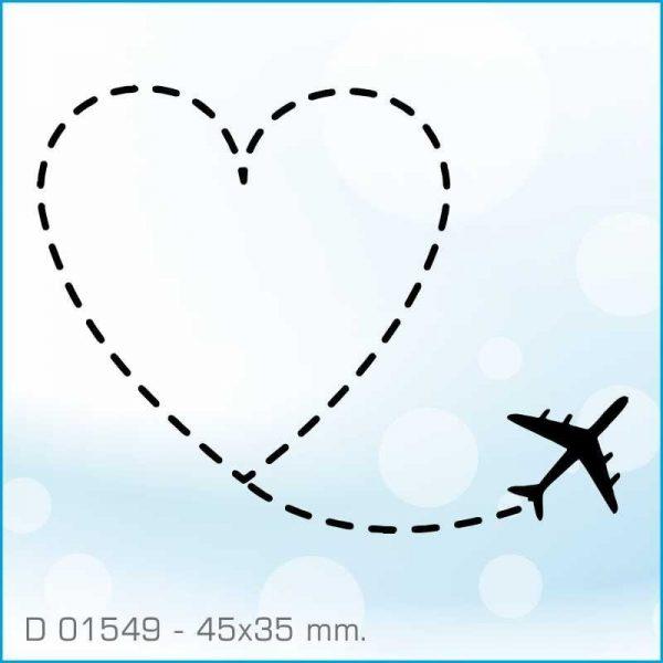 Sello Aladine avión y corazón