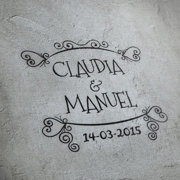 Sello boda Enredados