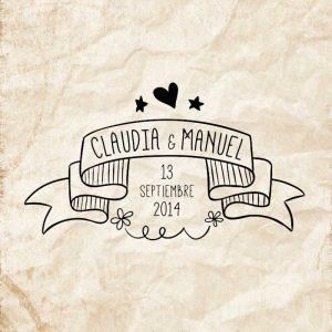 Sello boda Cinta Novios