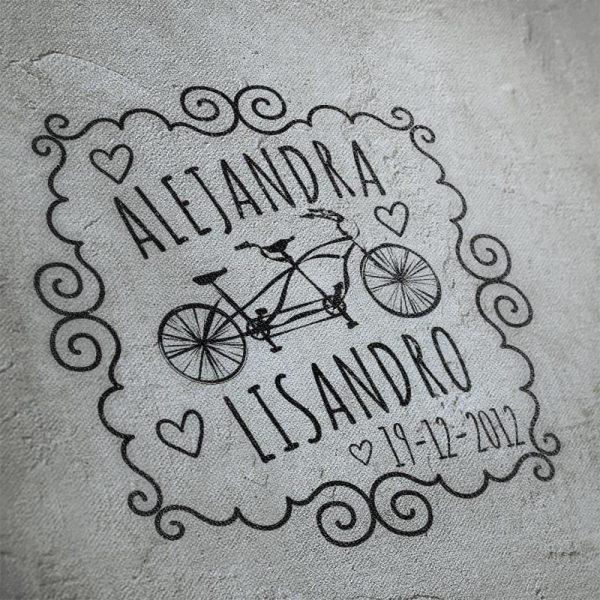 Sellos boda Bicicleta