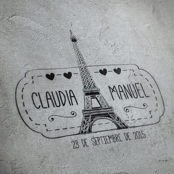 Sellos boda Torre Eiffel