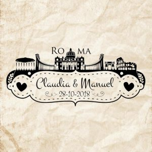 Sellos boda Roma