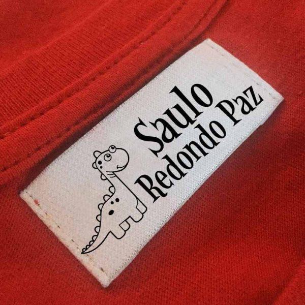 sello ropa automático dinosaurio