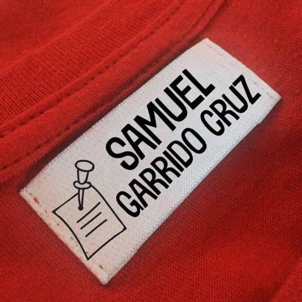 sello ropa automático Nota