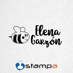 sello ropa automático abeja