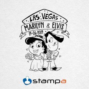 Sello boda Pareja Las Vegas